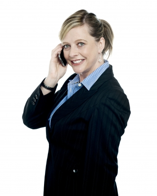 smiling woman on phone  stockimages