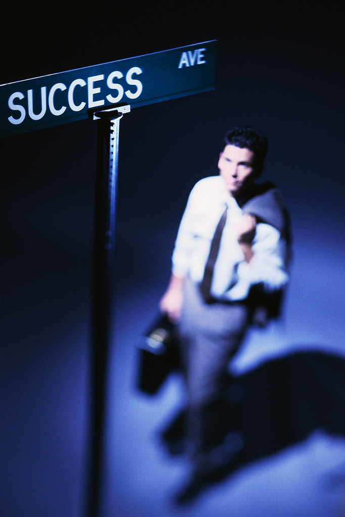 Businessman at Road of Success